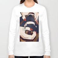 nail polish Long Sleeve T-shirts featuring Nail & Dog by Katerina Vlasyuk