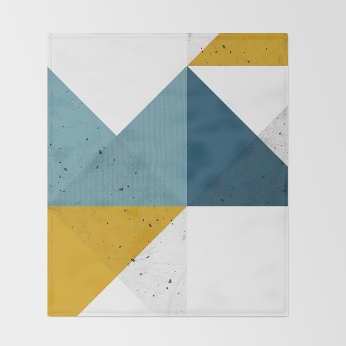 Modern Geometric 19 Throw Blanket