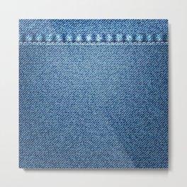 Jeans blue texture Metal Print