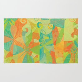 Abstract Floral Pattern - Summer Daydreams Rug