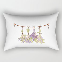 Herbs in Pastel Color Pink Bouquet Rectangular Pillow