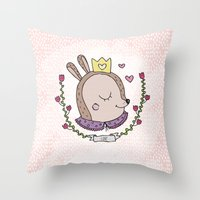 bambi Throw Pillows featuring Bambi by Line B.