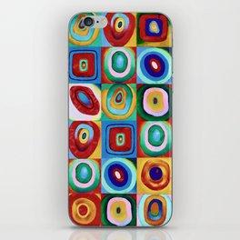 Colorful circles tile iPhone Skin