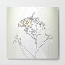 """Grafik 030"" Butterfly Art by Murray Bolesta Metal Print"