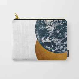 Sea Gold Geometrical Collage Carry-All Pouch