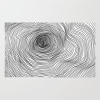 tree rings Area & Throw Rugs featuring Abstract Tree Rings by Michael James
