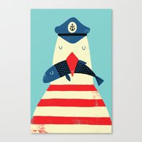 Canvas Prints featuring A Sailors Life For Me by Monster Riot