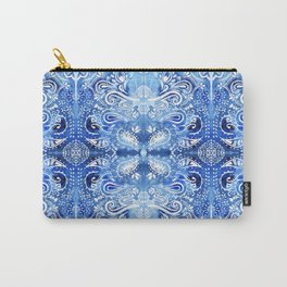 Blue and White Batik Pattern Carry-All Pouch