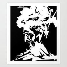 An Old Man Art Print