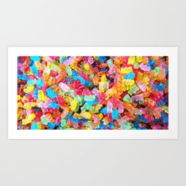 Gummy Bear Don't Care Art Print