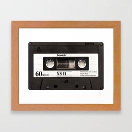 Cassette Tape Black And White #decor #society6 #buyart Framed Art Print