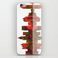 atlanta iPhone & iPod Skins featuring Atlanta Skyline by Marlene Watson