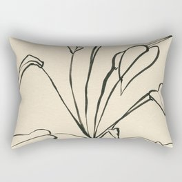 Line drawing leaves Rectangular Pillow
