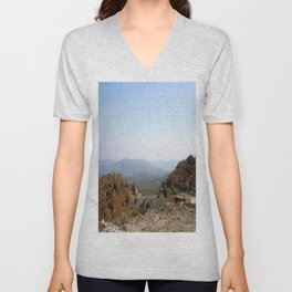 The Winding Road of Datca Peninsula, Turkey Unisex V-Neck