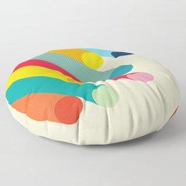 Retro Mid Century Beams   Bauhaus Geometric Pattern Floor Pillow