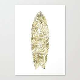 SURFBOARD poster gold Canvas Print