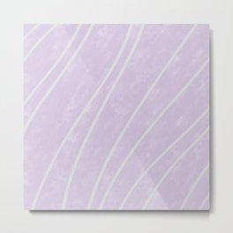 Purple Points in Oils Metal Print