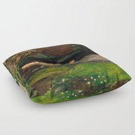 Ophelia, John Everett Millais Floor Pillow