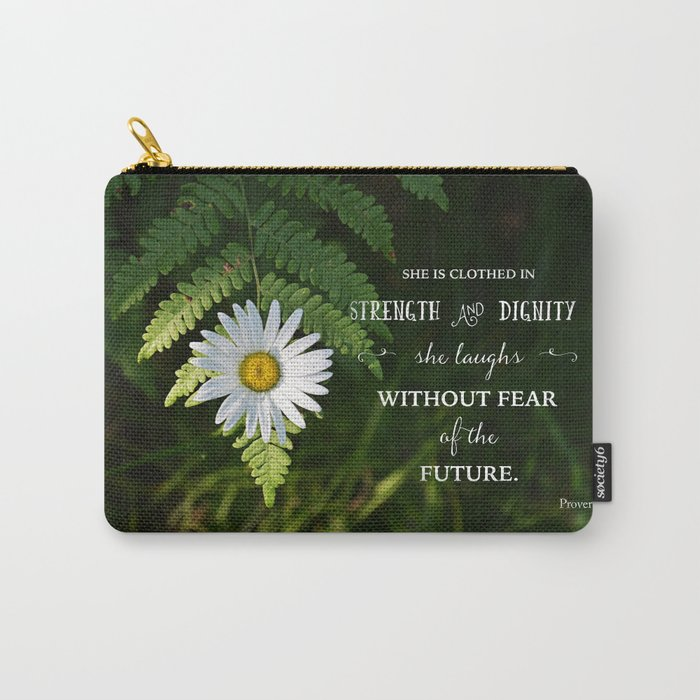 Clothed with Strength Carry-All Pouch