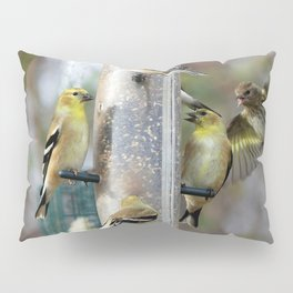 Goldfinches at the Feeder Pillow Sham