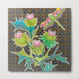 floral  with thistle Metal Print