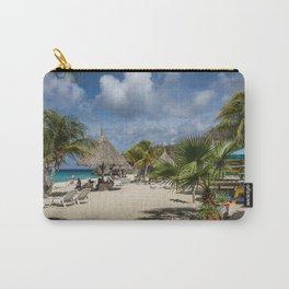 Curacao - Caribbean Island Beach Scene Carry-All Pouch