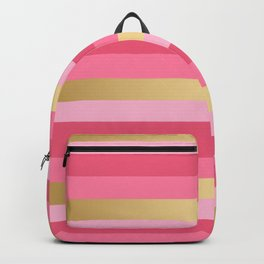 Pink and Gold Stripes Backpack