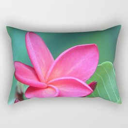 red spiral frangipani Rectangular Pillow