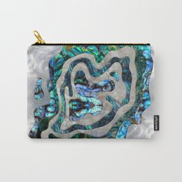 Abstract Ripple  Abalone and Mother of pearl Carry-All Pouch