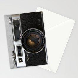 Yashica electro 35 on white marble Stationery Cards