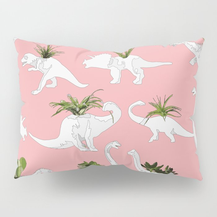 Dinosaurs & Succulents Pillow Sham