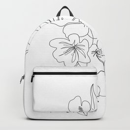 Minimal Line Art Woman Face II Backpack