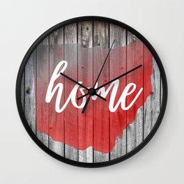 Ohio Map Home Barn Wall Painting Wall Clock