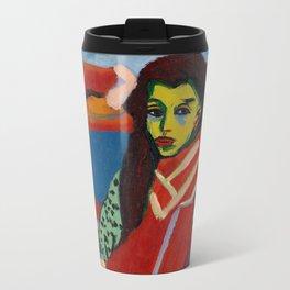 Ernst Ludwig Kirchner - Seated Girl, 1910 Travel Mug