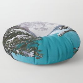 Paradise in the Mountains (Color) Floor Pillow