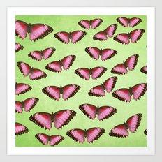 Pink butterflies! Art Print