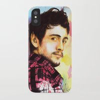 james franco iPhone & iPod Cases featuring James Franco by Anguiano Art