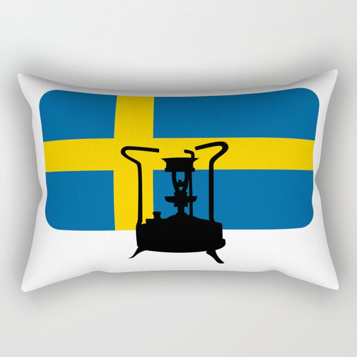 Sweden flag | Pressure stove Rectangular Pillow