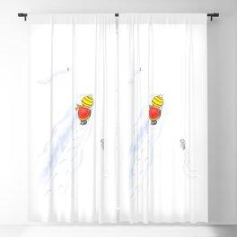 Snowy, snowy day Blackout Curtain