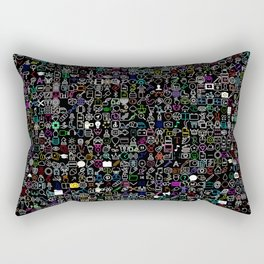 ICONS Overdrive II (Black) Rectangular Pillow