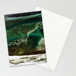 Glass-like Turquoise Waves Photography Stationery Cards