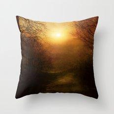 April Ethereal Throw Pillow