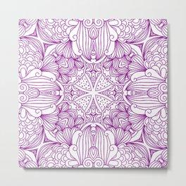 Mindful Mandala Pattern Tile MAPATI 38 Metal Print
