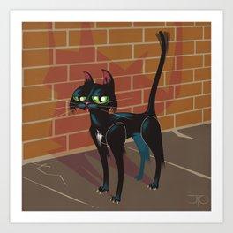 Cat City Art Print