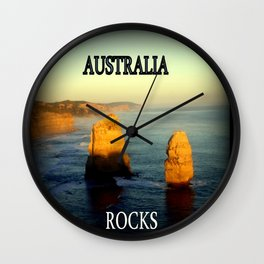 Australia Rocks Wall Clock