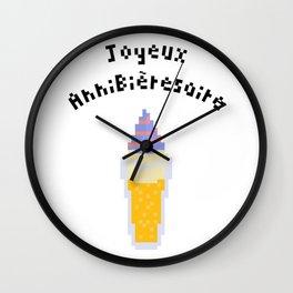 Joyeux Annibièresaire Wall Clock