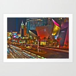Las Vegas Nights 2 Art Print