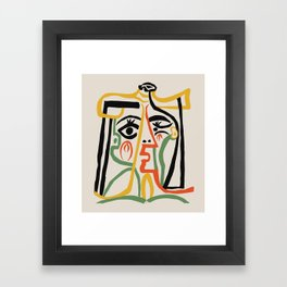 Picasso - Woman's head #1 Framed Art Print