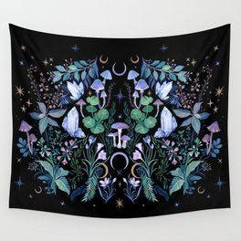 Mystical Garden Wall Tapestry
