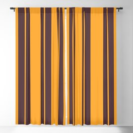 Retro Vintage Striped Pattern Blackout Curtain